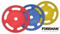 Диск олимпийский обрезиненный цветной FOREMAN 10 кг FMPRR-KGG