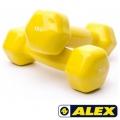 Гантели в виниле ALEX 1-5 кг (штука)