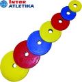 Диск обрезиненный цветной INTER ATLETIKA Ø52мм 1.25-25 кг