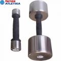 Гантель пластик/хром INTER ATLETIKA ST541 0,5-10 кг