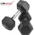 Гантели фиксированные шестигранные LifeMaxx LMX81 пара