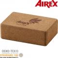 Опорный блок для йоги AIREX ECO CORK BLOCK - 3-Inch