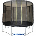 Батут с сеткой KIDIGO VIP BLACK Ø244 Trampoline safety net