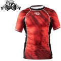 Рашгард PERESVIT Immortal Silver Rashguard Short Sleeve Red