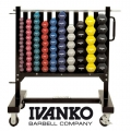 Передвижная стойка для гантелей IVANKO SW2002 на 41 пару