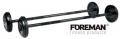 Штанги фиксированные обрезиненные FOREMAN Fixed Barbells 10-55кг