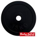 Диск домашний обрезиненный черный BODY SOLID RCP-10