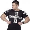 Мужская облегающая футболка BIG SAM 2724