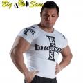 Мужская облегающая футболка BIG SAM 2807