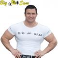 Мужская облегающая футболка BIG SAM 2795