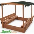 Детская песочница с крышей SportBaby Песочница-4