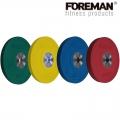 Диск олимпийский бампированный обрезиненный черный FOREMAN FM/BM