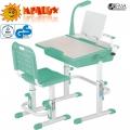Парта и стульчик с набором аксессуаров MEALUX BD-02G-AX