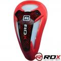 Ракушка карбоновая для защиты паха RDX MMA Red RR