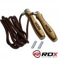 Скакалка с утяжелителями RDX Leather Adjustable Weighted Rope