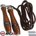 Скакалка с утяжелителями RDX Leather Adjustable WeightedRope New