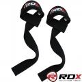 Кистевые ремни для тяги RDX Black Weight Lifting Straps пара