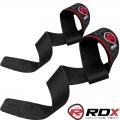 Кожаные кистевые ремни для тяги RDX Deluxe Leather Straps пара