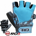 Женские перчатки для фитнеса RDX Ladies Gel Gym Gloves Blue