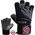 Перчатки для бодибилдинга RDX Pro Lift Black