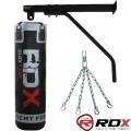 Боксерский мешок RDX Leather с креплениями 45-55 кг