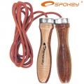 Скакалка с кожаным шнуром SPOKEY Quick Skip