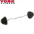 Штанга наборная W-образный гриф YORK FITNESS 50 кг 645-10