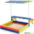 Детская цветная песочница с крышей/столом SportBaby Песочница-20