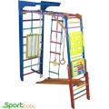 Спортивный детский уголок SportBaby Панда цветная