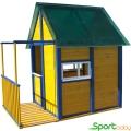 Детский игровой домик для улицы SportBaby Избушка