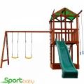 Деревянный детский домик SportBaby Babyland-2