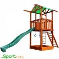 Деревянный детский домик SportBaby Babyland-1