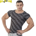 Мужская облегающая футболка BIG SAM 2824