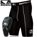 Компрессионные шорты с ракушкой BAD BOY Defender 2.0 Shorts Cup