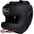 Боксерский бесконтактный шлем RDX Leather Head Guard Halmet