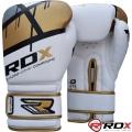 Боксерские перчатки RDX Rex Leather Gold