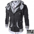 Толстовка мужская LCJ10 Mens Casual Slim Fit Hoodies Cotton Long