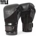 Боксерские перчатки TITLE Black Blitz Fit Boxing Gloves