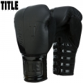 Боксерские перчатки TITLE Black Blast Lace Training Gloves