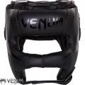 Боксерский бесконтактный шлем VENUM Elite Iron Matte Black