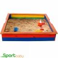 Детская цветная песочница с лавками SportBaby Песочница-25