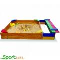 Детская песочница с сидением SportBaby Песочница-6