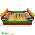 Детская цветная песочница с крышкой SportBaby Песочница-11