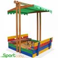 Детская цветная песочница с крышей SportBaby Песочница-10