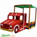 Детская песочница-пожарная машина SportBaby Песочница-17