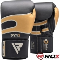 Боксерские перчатки RDX Leather Black Gold