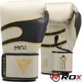 Боксерские перчатки RDX Leather Pearl White
