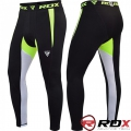 Компрессионные штаны RDX Lycra Green Pants