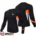 Компрессионный реглан с длинным рукавом RDX Lycra Orange