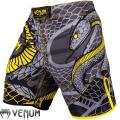 Шорты для единоборств VENUM Snaker Fightshorts Black Yellow